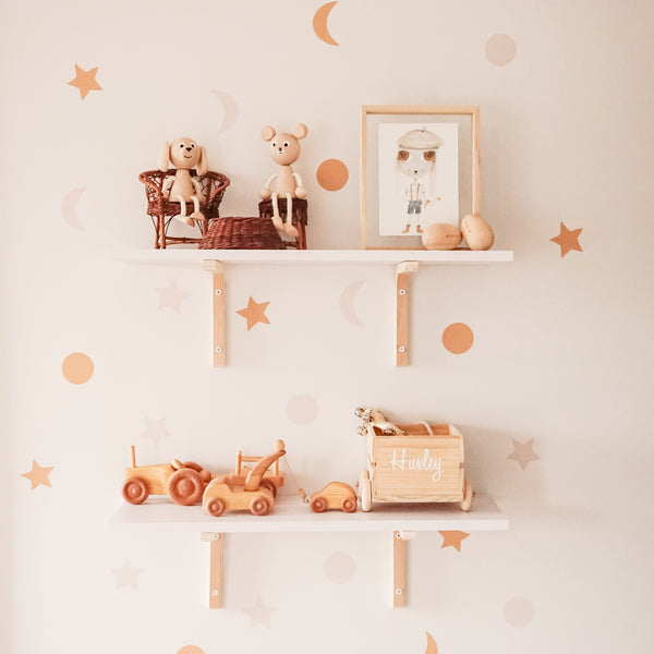 Stars and Moon Wall Decal