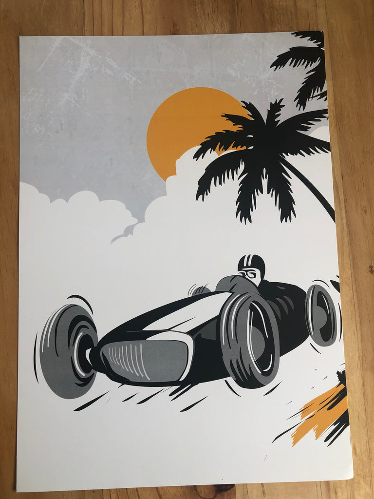 Black  car Print - sample