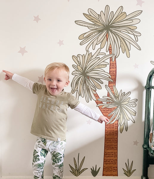 Succulent Tree Wall Decal