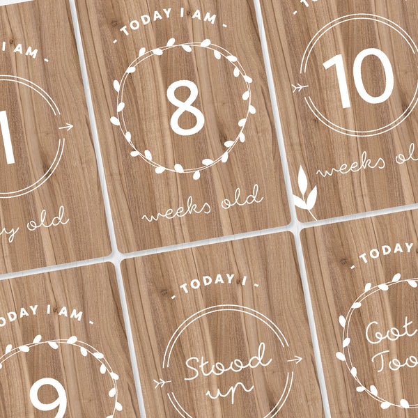 Baby - Wooden Milestone Cards