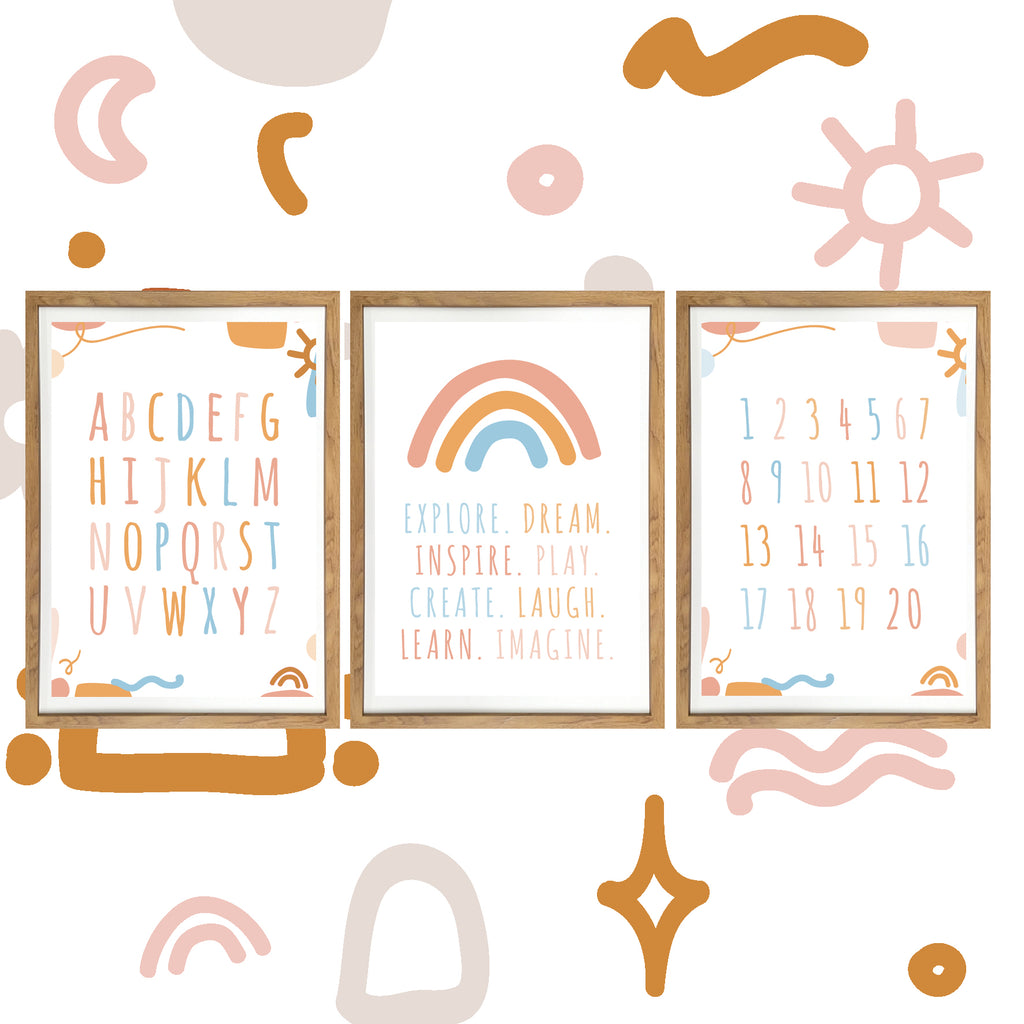 Spring Playroom Prints - Print Trio