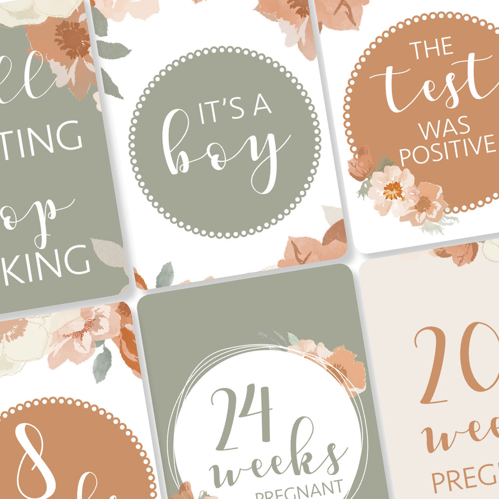 Pregnancy Milestone Cards - Autumn