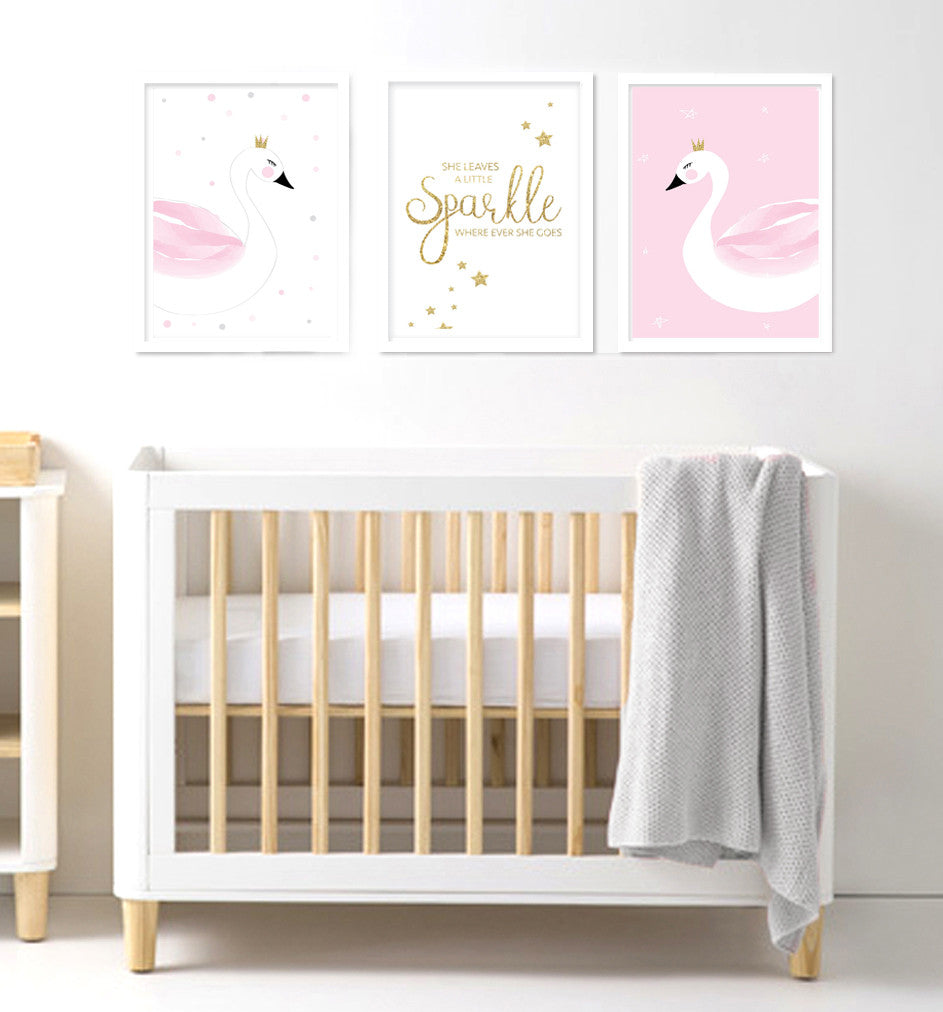 Sparkles and Swan - Print Trio