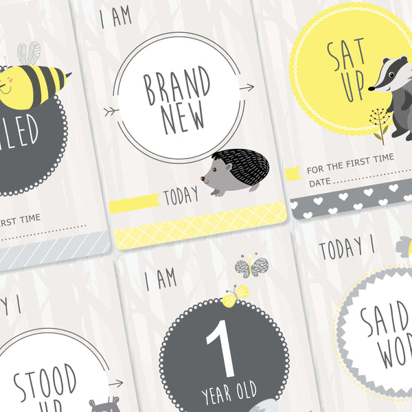 Baby - Yellow Milestone Cards