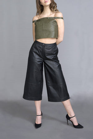Trinity Leather Culottes