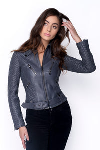 Brooklyn Basket Weave Grey Jacket