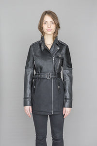 Fahreen Leather and wool jacket
