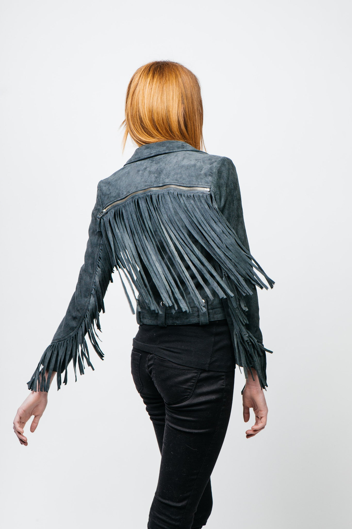 Nelly detachable Fringe Jacket Suede