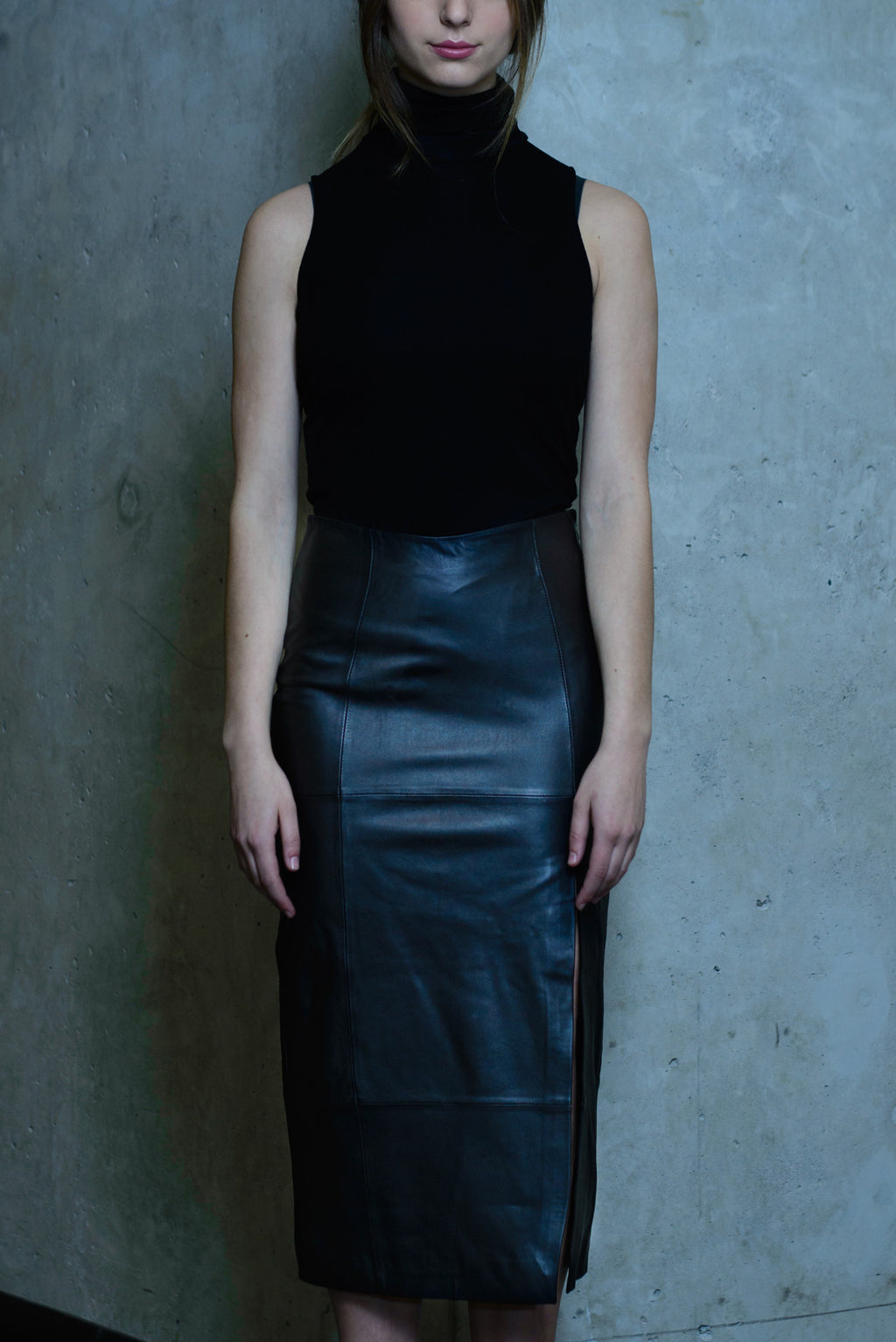 Bailey Leather Skirt