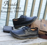 Leather Flats Men Casual Shoes