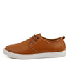 Leather Men Casual Shoes Lace-Up Oxfords Flats