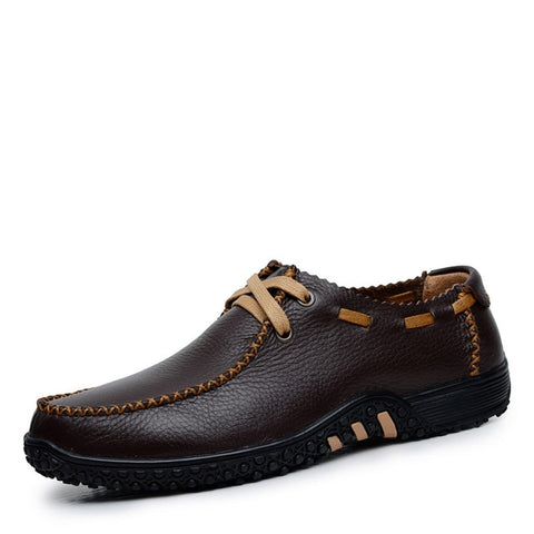 Men Genuine Leather Fashion Casual Breathable Shoes