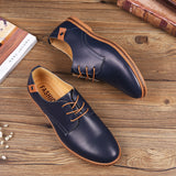 Leather Men Shoes British Casual Style