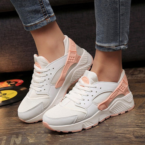 Women Casual Fashion Trainer Sneakers Wedge Canvas Lace-Up