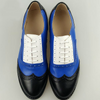 Women Leather Designer Shoes Vintage Flat Round Toe