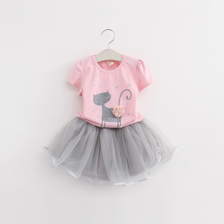 Cartoon Kitten Net Veil Dress | meemu.com | Kids fashion, accessories