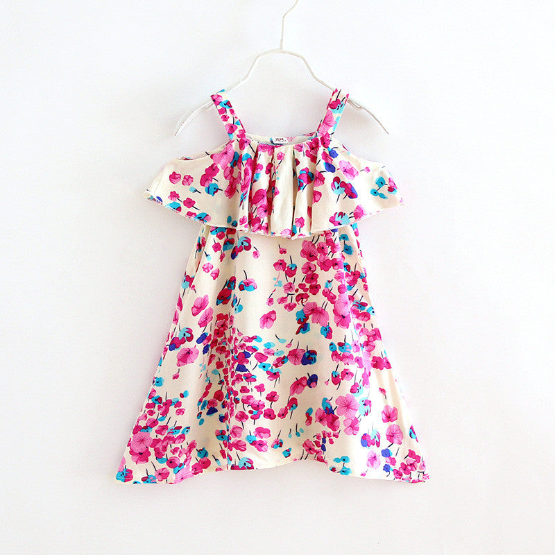 Cold Shoulder Floral Print Slip Dress | meemu.com | Kids fashion, accessories
