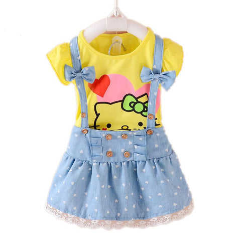 2pc Hello Kitty Dress | meemu.com | Kids fashion, accessories