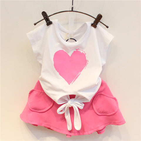 Toddler Love Top & Skirt