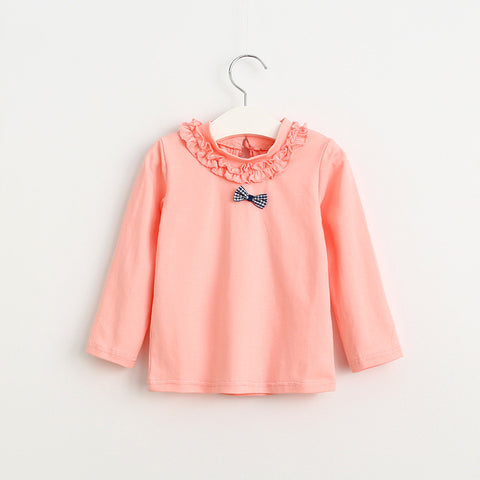Cute Pink Peach Top with Bow
