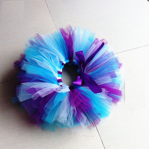 Purple Blue Tutu Skirt - meemu