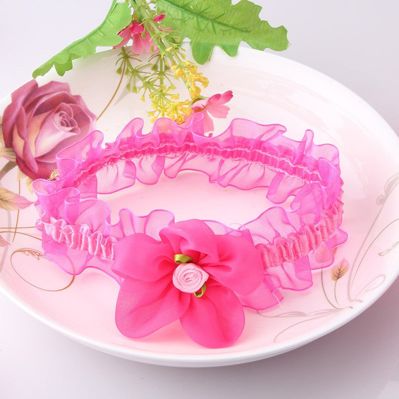 Flower Lace Head Band (Dark Pink) | meemu.com | Kids fashion, accessories
