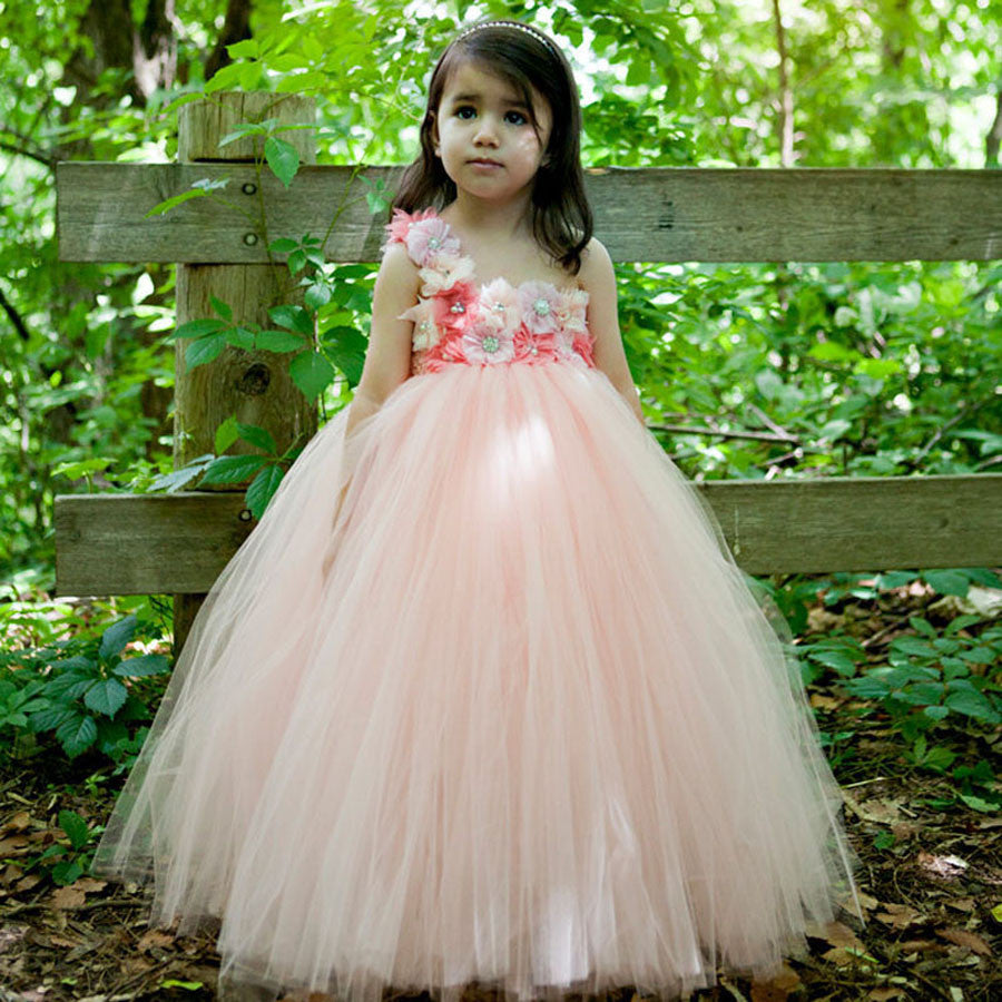 Royal Blossoms (Coral Peach) | meemu.com | Kids fashion, accessories