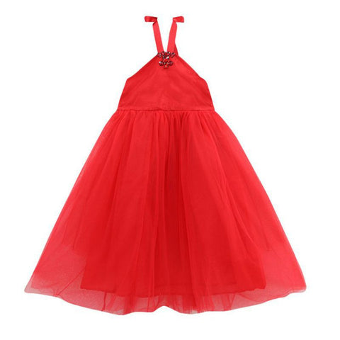 Red Halter-neck Gown | meemu.com | Kids fashion, accessories