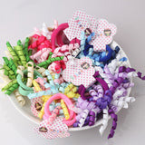 Colorful Ribbon scrunchy Children Elastic Hair Ring Instant Noodles Shaped Ponytail Hair Band | meemu.com | Kids fashion, accessories