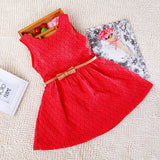 Baby Girls Princess Lace Hollow Out Summer Dress Clothes Kids Sleeveless Dresses | meemu.com | Kids fashion, accessories