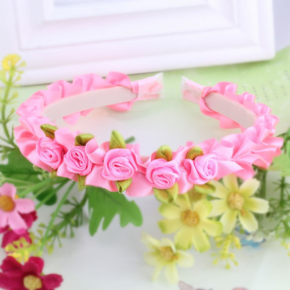 Dark Pink Ribbon Flower hello kitty Girls Hair Bands | meemu.com | Kids fashion, accessories