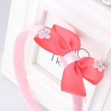 Bow Hair Band Girls Headband Sweet Pattern Flower Bow-Knot (Red Pink) | meemu.com | Kids fashion, accessories