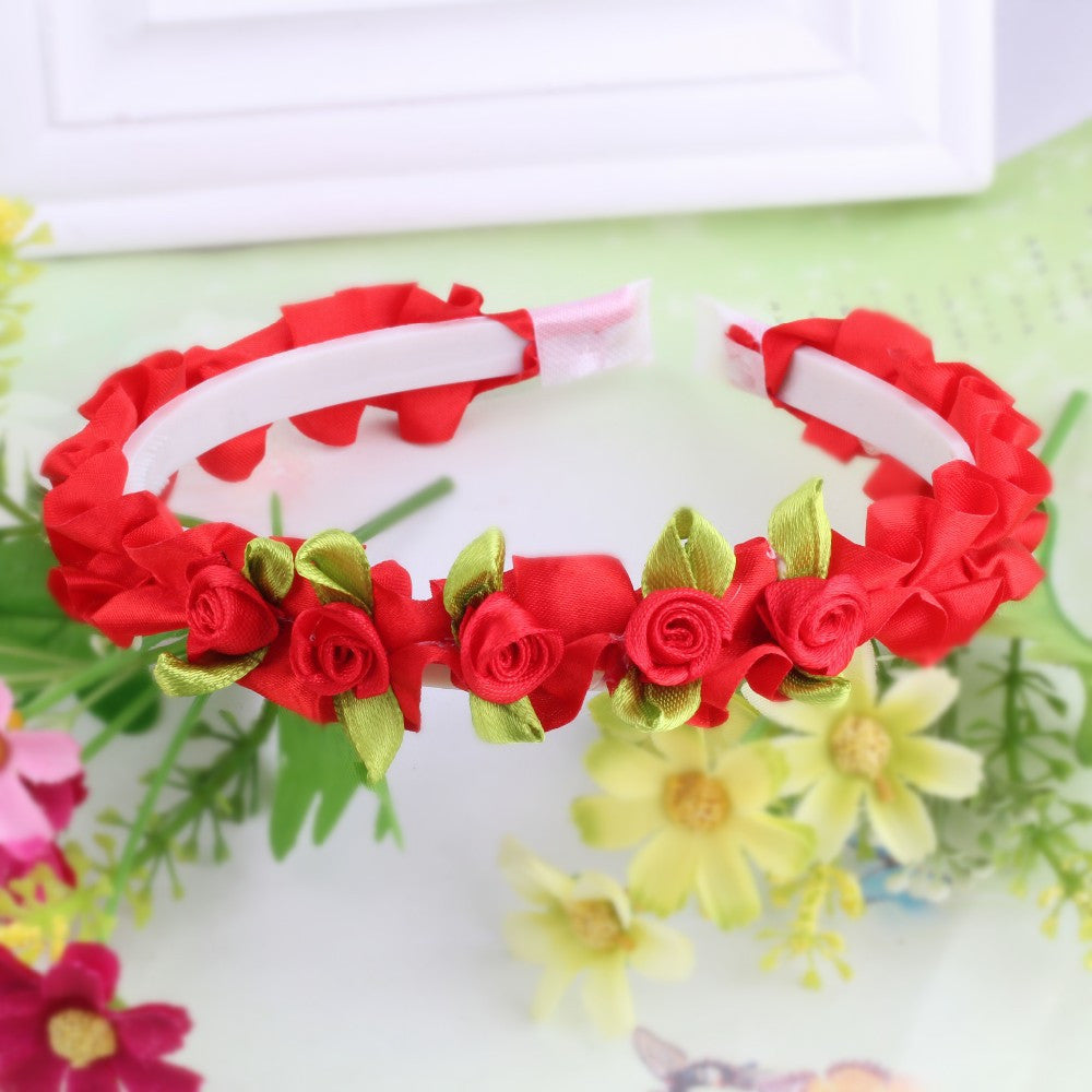 Red Ribbon Flower Girls Hair Bands | meemu.com | Kids fashion, accessories