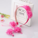 Bloom Flower Hair Band & Girls Hair Clip (4 pieces set) (Red Rose) | meemu.com | Kids fashion, accessories