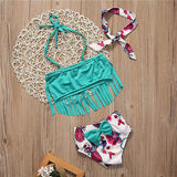 Tassel Bikini with Headband
