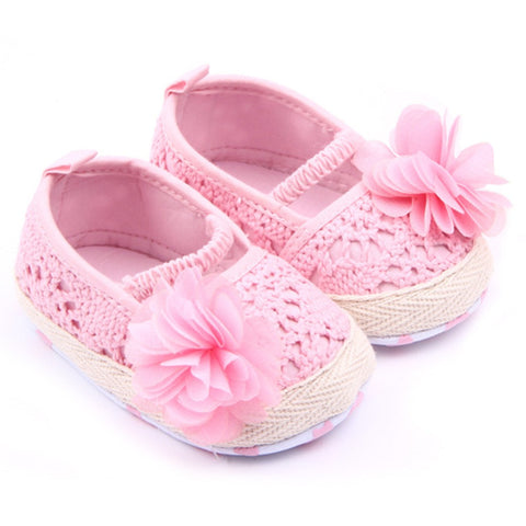 Crocheted Flower Shoes
