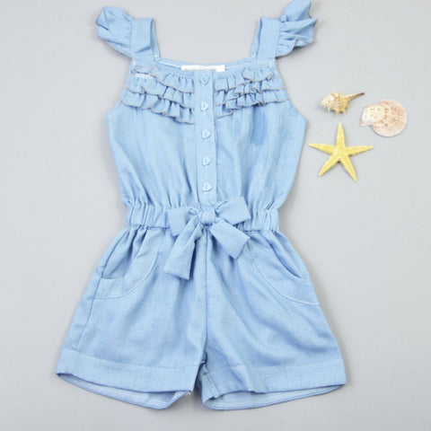 Denim Look Romper | meemu.com | Kids fashion, accessories