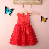Red Ruffle Petals Dress