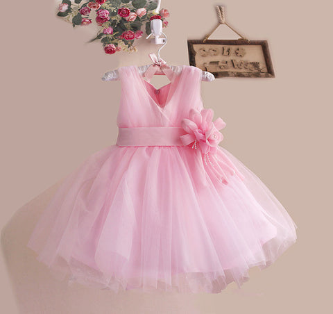 Light Pink Lacy Dress Chiffon