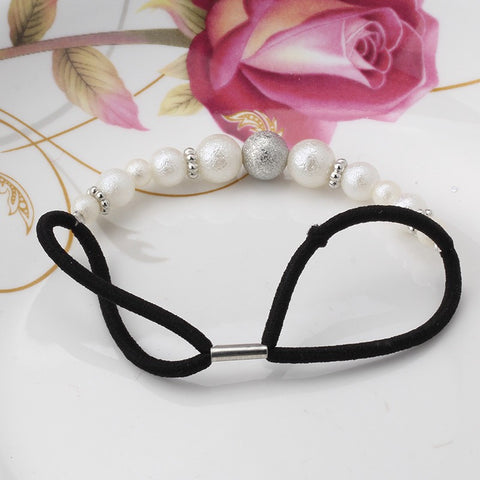 Pearls Elastic Hair Band (Silver White) | meemu.com | Kids fashion, accessories