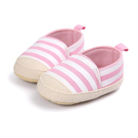 Pink Stripes Shoes