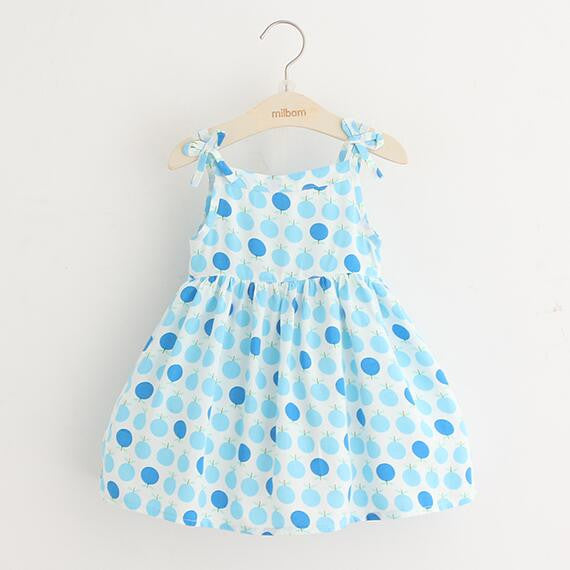 Summer Casual Dress Blue Dots | meemu.com | Kids fashion, accessories