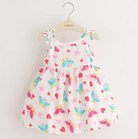 Butterfly Print Summer Casual Dress | meemu.com | Kids fashion, accessories