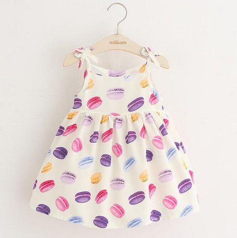 French Macron Print Summer Casual Dress | meemu.com | Kids fashion, accessories