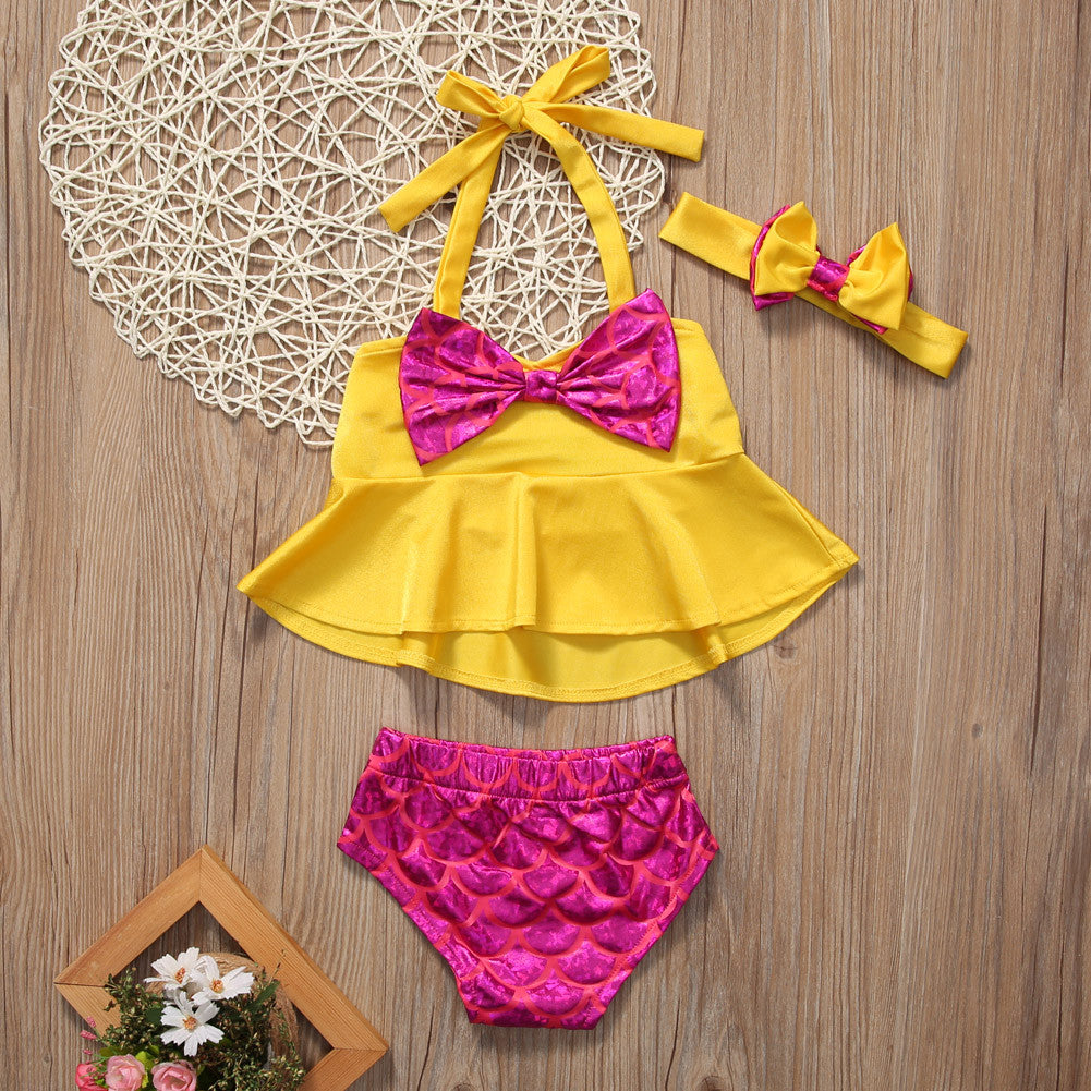 Yellow Tankini with Headband | meemu.com | Kids fashion, accessories