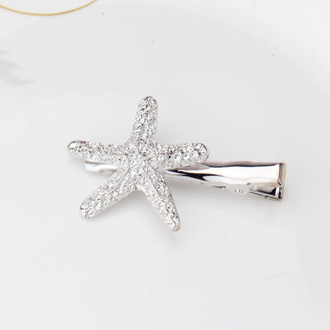 Exquisite Starfish Rhinestone Hairpins (Silver) | meemu.com | Kids fashion, accessories