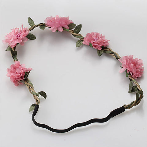 Bohemia Flowers Headband (Dusty Pink)