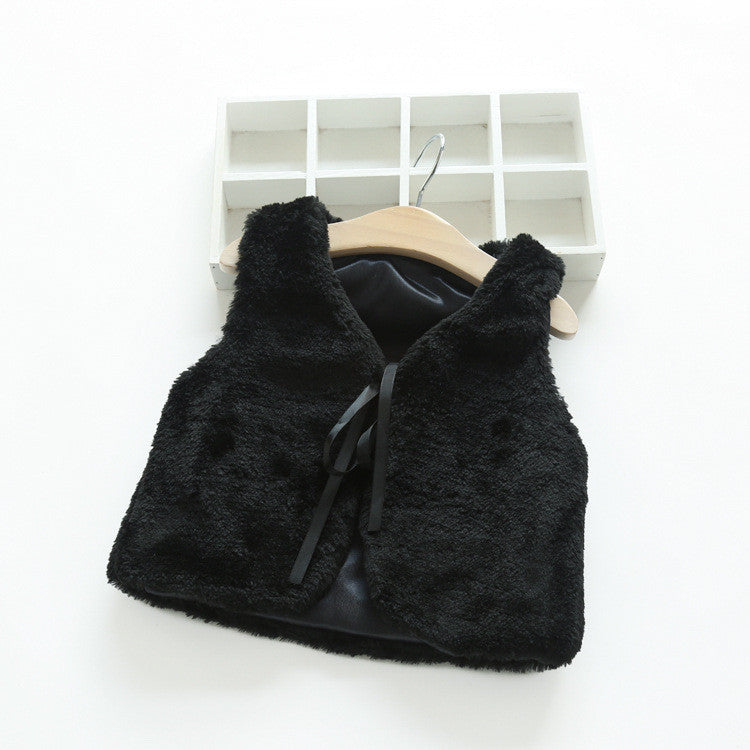 Warm Fur Soft Jacket [Black] | meemu.com | Kids fashion, accessories