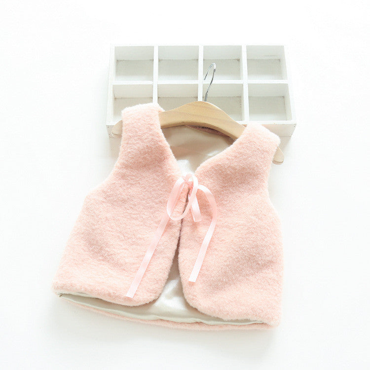 Warm Fur Soft Jacket [Light Peach] | meemu.com | Kids fashion, accessories
