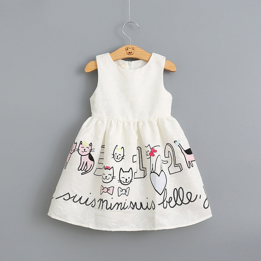 Little Kitten White Dress | meemu.com | Kids fashion, accessories